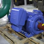 The new pump motors are rated at 550 horsepower replacing the original 500 horse power motors