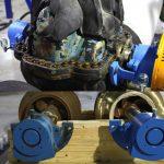 New rotating assemblies and bearings were installed at all six pump motors