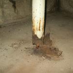 Manhole 9 before STM Slip Jt Support